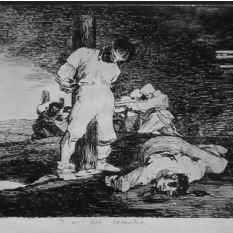 Francisco Goya. The Disasters of War, 1810-1820. There's no help for it. www.richardharrisartistcollection.com